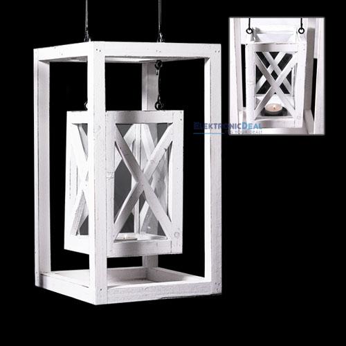 Neu holz laterne shabby design landhausstil windlicht for Deko gartenlaterne