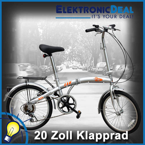 klappfahrrad 20 zoll klapprad faltrad fahrrad 6 gang ebay. Black Bedroom Furniture Sets. Home Design Ideas