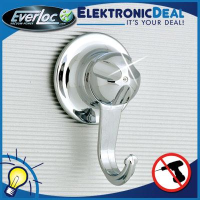 everloc wandhaken gro haken set vakuum saugnapf system ohne bohren badezimmer ebay. Black Bedroom Furniture Sets. Home Design Ideas