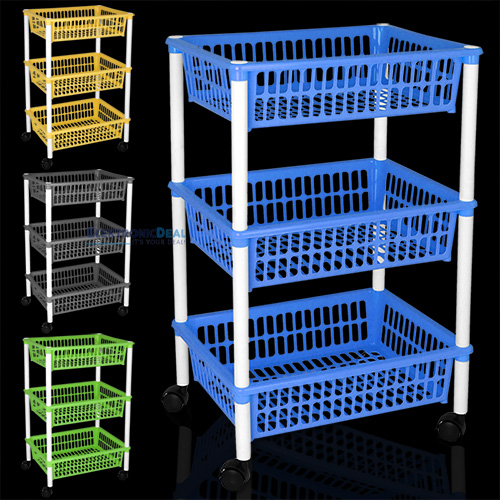 NEU Vorratswagen Küchenwagen Aufbewahrungsregal Küchentrolley ...