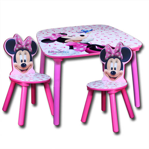 disney minnie kindersitzgruppe kinder sitzgruppe tisch st hle kindertisch m bel ebay. Black Bedroom Furniture Sets. Home Design Ideas