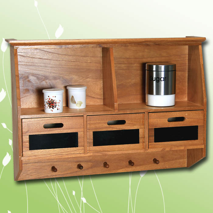 k chenschrank k chenregal regal k che wandregal gew rzregal holz landhaus braun. Black Bedroom Furniture Sets. Home Design Ideas