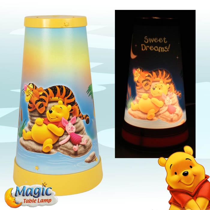 winnie the pooh kinder lampe tischlampe kinderzimmerlampe schreibtischlampe ebay. Black Bedroom Furniture Sets. Home Design Ideas