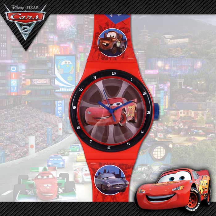 Disney cars pixar kinder wanduhr uhr uhren armbanduhr - Disney cars kinderzimmer ...
