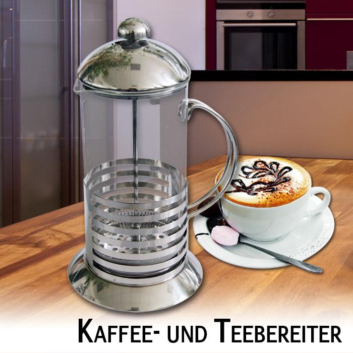 kaffeebereiter teebereiter kaffeepresse edelstahl tee kaffeekanne kaffeekocher ebay. Black Bedroom Furniture Sets. Home Design Ideas