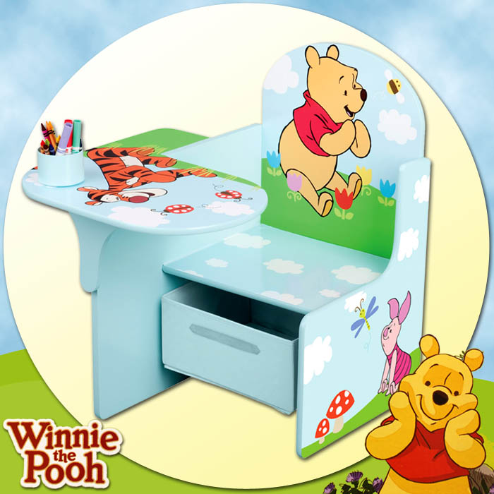 disney winnie the pooh kinderpult sitzgruppe tisch stuhl. Black Bedroom Furniture Sets. Home Design Ideas