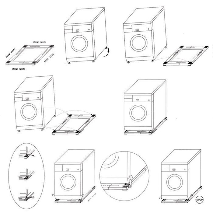 transporthilfe trockner waschmaschine transportroller. Black Bedroom Furniture Sets. Home Design Ideas