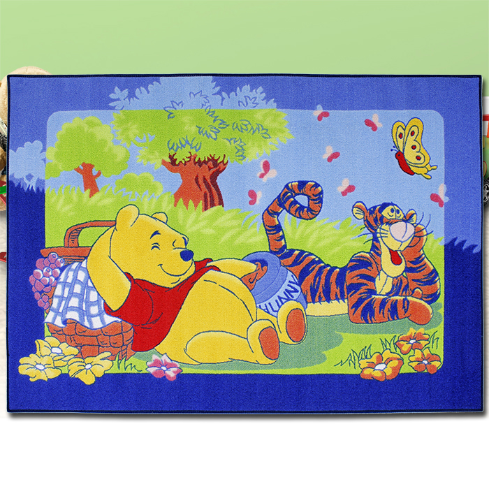 disney winnie the pooh teppich 133x95cm kinder. Black Bedroom Furniture Sets. Home Design Ideas