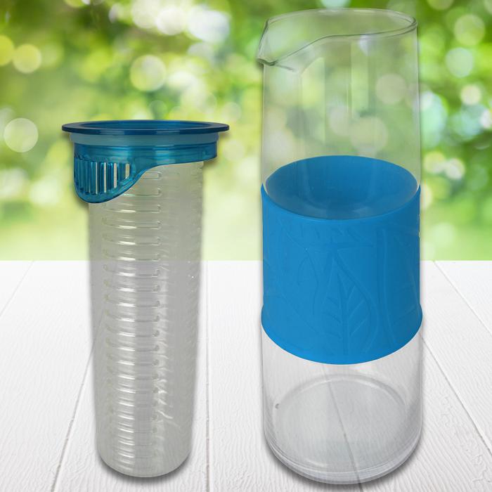glaskaraffe wasserkaraffe karaffe wasserkrug krug einsatz trinkflasche glas 1 l ebay. Black Bedroom Furniture Sets. Home Design Ideas